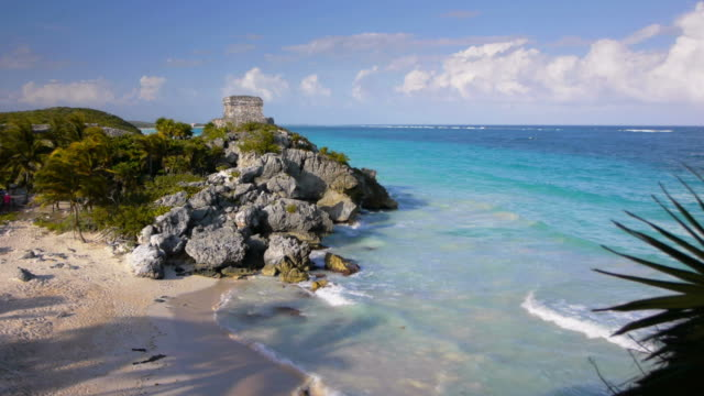 tropical beach tulum mexico - caribbean sea stock videos & royalty-free footage