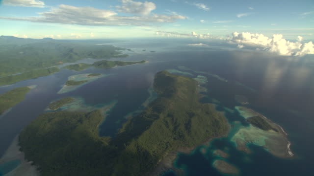 Tropical coast, inlets and coral reefs, Guadalcanal, Solomon Islands