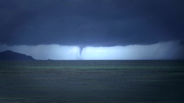 tropical cyclone seen from beach - tornado stock videos & royalty-free footage