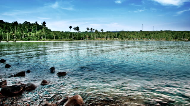 tropical dream beach - aitutaki stock videos & royalty-free footage
