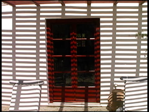Tropical Heat: Shadow Pattern on French Doors