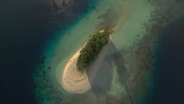 Tropical island and coral reef, Guadalcanal, Solomon Islands