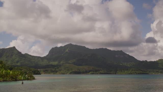 tropical island - huahine island stock videos and b-roll footage
