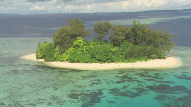 Tropical islet and coral reef, Solomon Islands