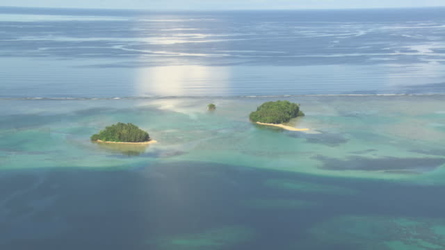 Tropical islets and coral reef, Solomon Islands