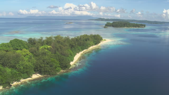 vídeos de stock, filmes e b-roll de tropical islets and coral reefs, solomon islands - oceano pacífico do sul