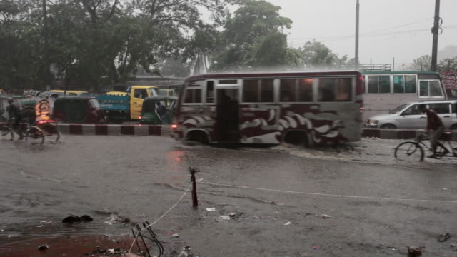 tropical monsoon rain and flooding in chittagong, chittagong, bangladesh, indian sub-continent, asia - monsoon stock videos and b-roll footage