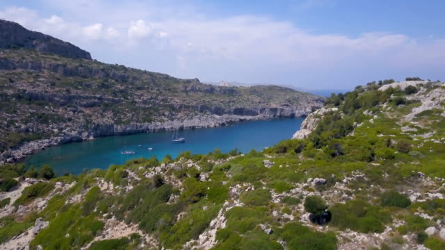 tropical oasis - rhodes dodecanese islands stock videos & royalty-free footage