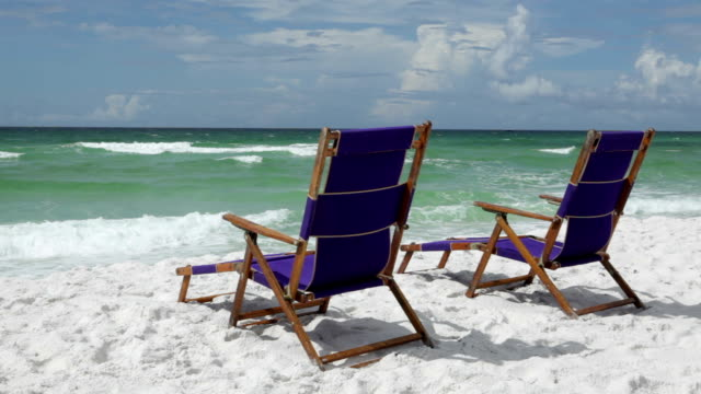 tropical paradise beach - outdoor chair stock videos & royalty-free footage