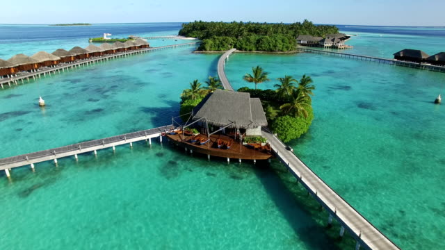 tropical paradise in maldives - ayada island - caribbean sea stock videos and b-roll footage