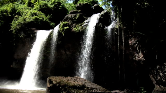 tropical paradise jungle waterfall - seamless loop hd - in the loop 2009 film stock videos and b-roll footage