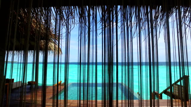 tropical paradise, luxury holiday in maldives - ayada island - caribbean sea stock videos & royalty-free footage