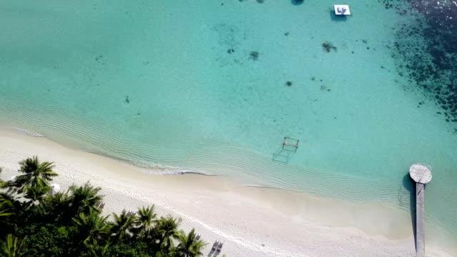 tropical paradise, luxury holiday in maldives - ayada island - caribbean sea stock videos & royalty-free footage
