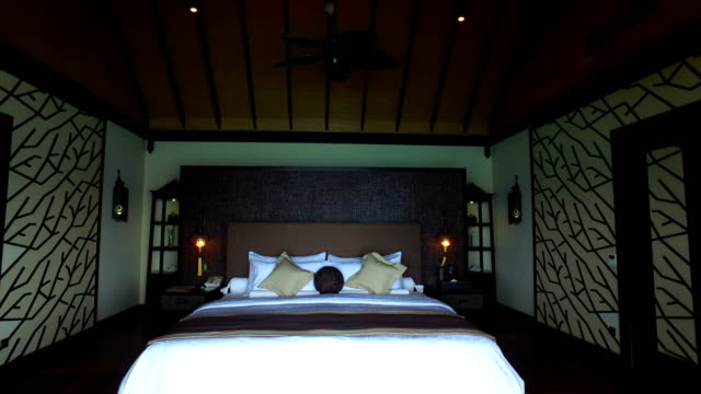 tropical paradise, luxury holiday in maldives - ayada island - pillow stock videos and b-roll footage