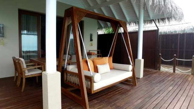 tropical paradise, luxury holiday in maldives - ayada island - holiday villa stock videos & royalty-free footage