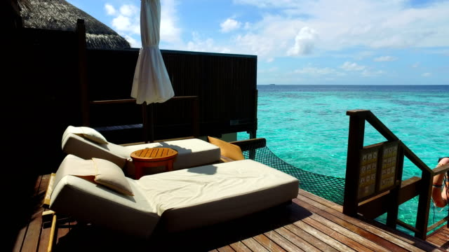 tropical paradise, luxury holiday in maldives - ayada island - tourist resort stock videos and b-roll footage