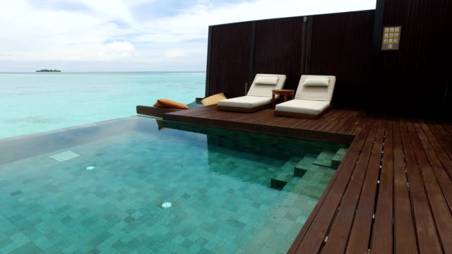 tropical paradise, luxury holiday in maldives - ayada island - hotel stock videos & royalty-free footage