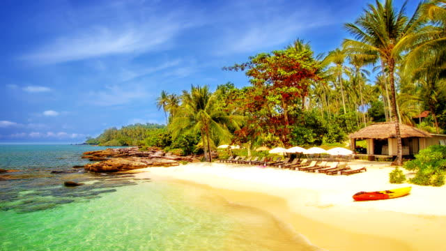 tropical resort on island - thailand stock videos and b-roll footage