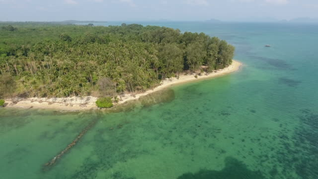tropical sea and beach, aerial video - island stock videos & royalty-free footage