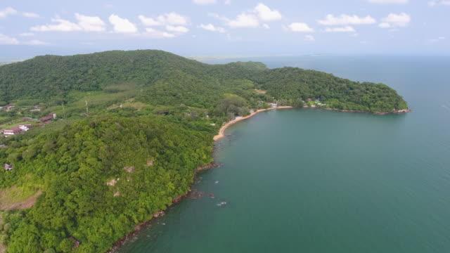 vídeos y material grabado en eventos de stock de mar tropical y playa contra el cielo azul, video aéreo - árbol tropical