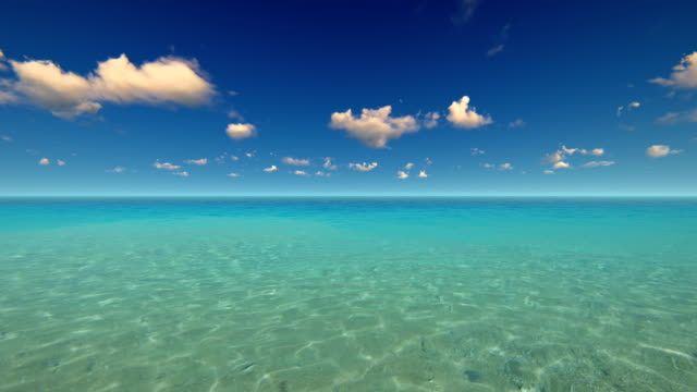 tropical sea and sky - turquoise coloured stock videos & royalty-free footage