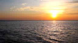 Tropical sea at beautiful sunset.