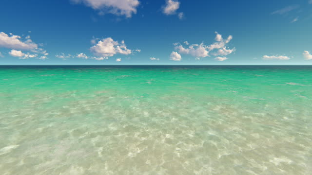 tropical shallow water and sky - superficie dell'acqua video stock e b–roll