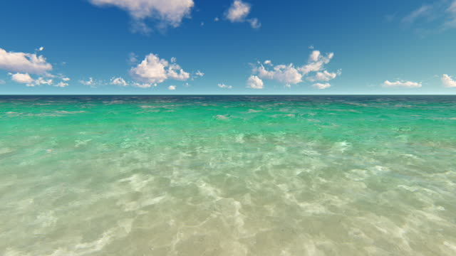 tropical shallow water and sky - seascape stock videos & royalty-free footage