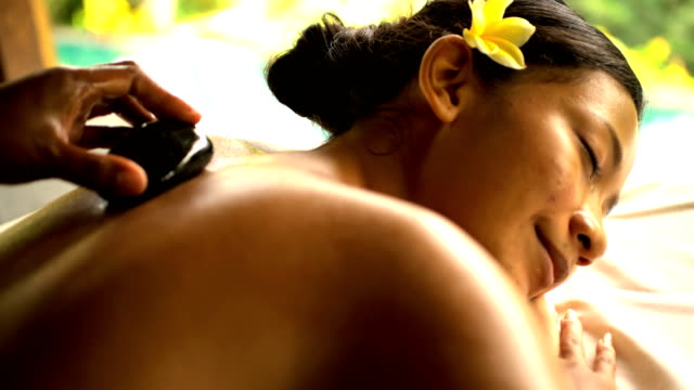 tropical spa detoxification therapy on asian female indonesia - balinese culture stock videos & royalty-free footage