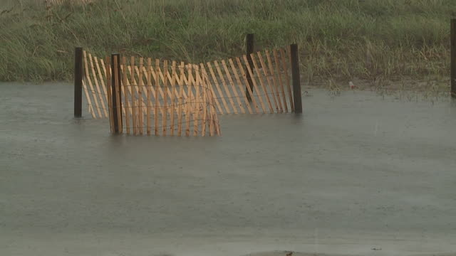 wghp tropical storm florence pounds atlantic beach north carolina on september 13 2018 - carolina beach stock videos and b-roll footage