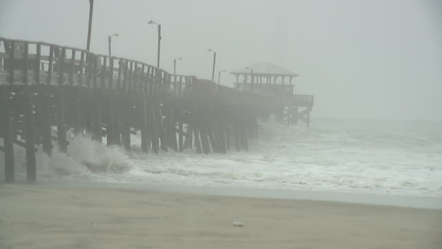wghp tropical storm florence pounds atlantic beach north carolina on september 13 2018 - tropical storm stock videos & royalty-free footage