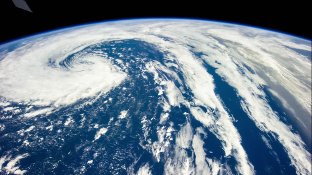 Tropical Storm from ISS - Timelapse