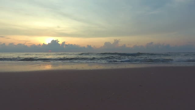 tropical sunrise beach. - mckyartstudio stock videos and b-roll footage
