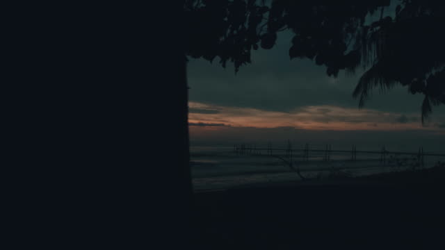 4k : tropical sunset at koh chang beach. - koh chang stock videos and b-roll footage