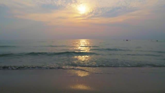 SLO MO, Tropical sunset beach.
