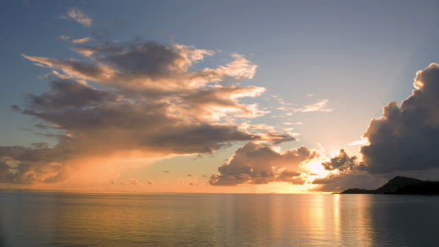 tl ws tropical sunset/ bora bora, tahiti  - moving past stock videos & royalty-free footage