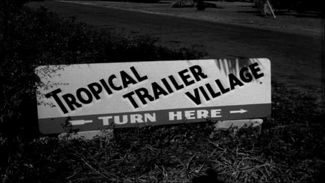 tropical trailer village, 1955 - trailer home stock videos & royalty-free footage