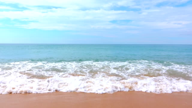 tropical turquoise beach with white sand shore - cote d'azur stock videos & royalty-free footage
