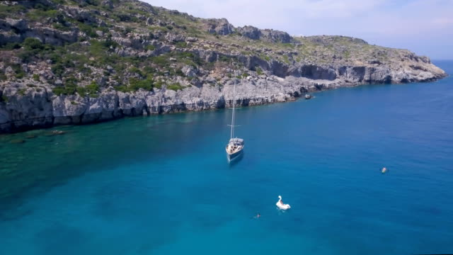 tropical vacation - rhodes dodecanese islands stock videos & royalty-free footage