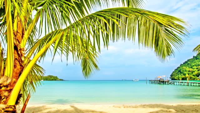Tropiska jungfru strand med vit sand