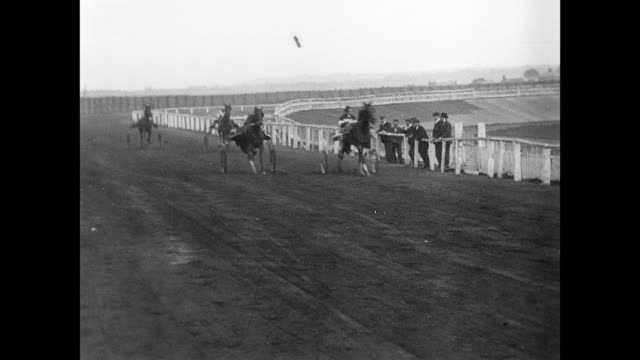 trotting match at springfield park, wigan 1904 - edwardian style stock videos & royalty-free footage