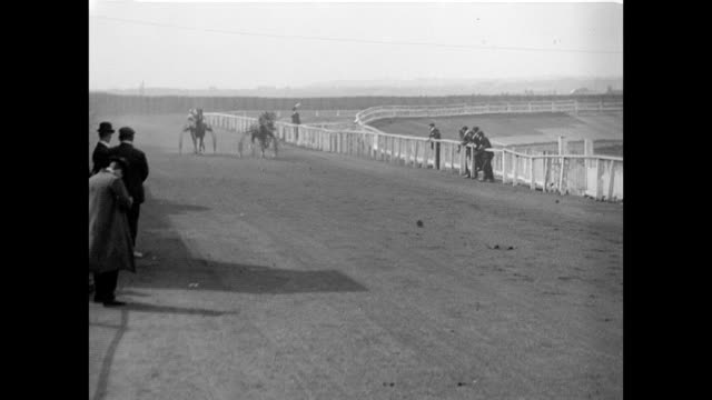 1904 trotting match at springfield park, wigan - 1904 stock videos & royalty-free footage