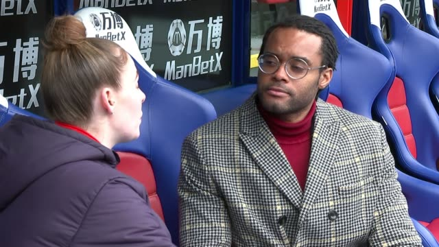 troubled teens provided mentorship at crystal palace fc; uk, selhurst park; interview with young person taking part in the palace for life foundation... - participant stock videos & royalty-free footage
