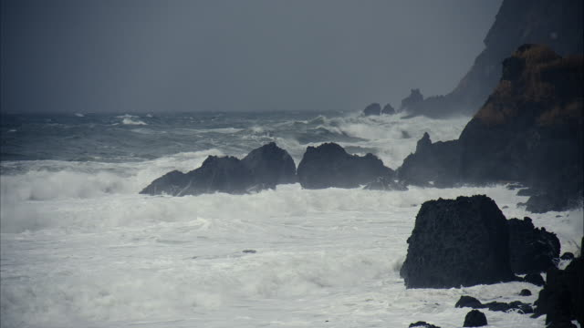 troubled waters  rocky area of sea Sea of Japan  Nipponkai