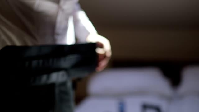 Trousers belt - Stock Footage