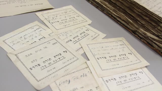 a trove of jewish manuscripts deftly hidden from the nazis in a church in the heart of lithuania's capital vilnius is giving up its secrets for the... - lithuania stock videos & royalty-free footage