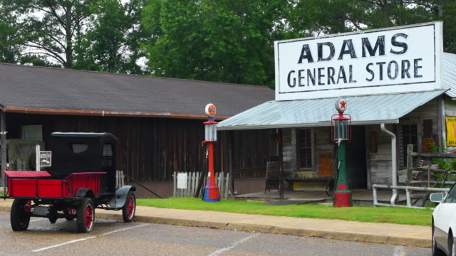 Troy Alabama Old Historical Gas Station With Old Truck In