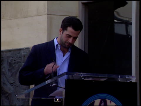 troy garity at the dediction of randy quaid's walk of fame star at the hollywood walk of fame in hollywood, california on october 7, 2003. - randy quaid stock videos & royalty-free footage