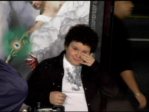 troy gentile at the 'tenacious d in the pick of destiny' premiere arrivals at grauman's chinese theatre in hollywood, california on november 9, 2006. - tenacious d stock videos & royalty-free footage