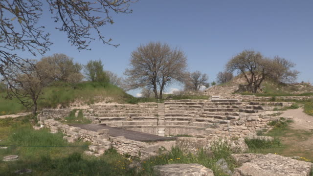 Troy, view of the ancient Greek theatre
